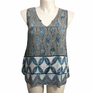 Come Vintage sleeveless print top. Sz large